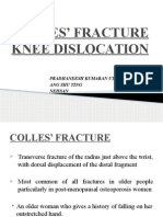 Colles Fracture & Knee Dislocation