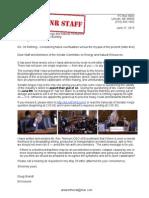 21 June 2015 Letter to Senate Committee on Energy