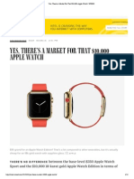 Yes, There's a Market For That $10,000 Apple Watch _ WIRED