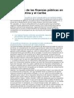 Tendencias de Las Finanzas Públicas en América Latina y El Caribe