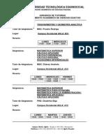 Tutorías Departamento Académico de Ciencias Exactas Marzo 2015 - Julio 2015