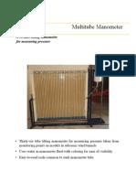 Multitube Manometer