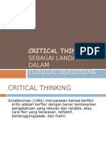 Critical Thinking-clinical Reasoning