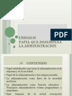 PAPEL DE LA ADMINISTRACION