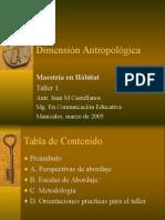 Dimensión Socio-antropológica habitat 2