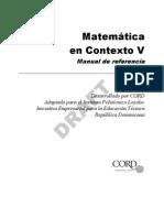 Matematica en Contexto v - Manual de Referencia 10 09