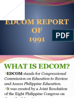 Edcom Report of 1991