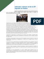 Ministra y Sindicatos Valoran Rol de La DT en Acuerdo Logrado en Subus_8oct2014