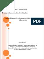 Introducción Al Proceso de Planeación de Auditoria Informatica