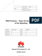 WIN Products - Topic on the Analysis of the Signaling V1.0-20050401-B