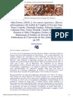 John Dewey, L'Art Comme Expérience, Œuvres Philosophiques III- Description
