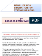 General Design Consideration for Susbstation Designs [Egbodor Peter][2014]