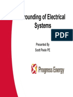 grounding of electrical syastems