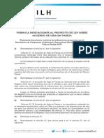 Indicaciones Del Movilh Al AVP Entregadas Al Senado y Gobierno