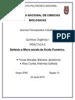 Practica 5 Quimica Organica Sintesis de acido fumarico