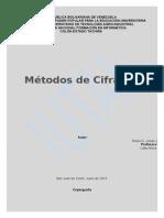 Métodos de Cifrados