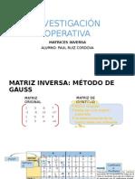 Matrices - Método de Gauss