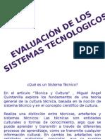 Evaluacion de Los Sitemas Tecnolicos