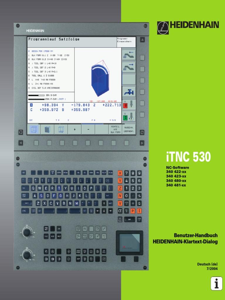 Handbuch ITNC 530 340 481-Xx