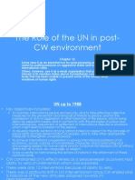 The Role of the UN in Post-CW Environment