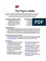 Peace Corps Masters Prep . Website Resource Guide