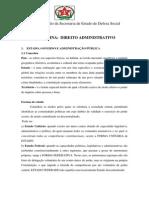 Disciplina - Direito Administrativo