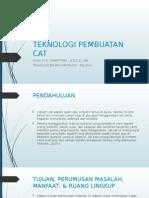 Teknologi Pembuatan Cat