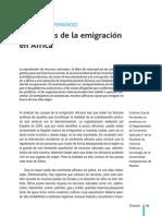GARCÍA FERNÁNDEZ, Cristina, Las causas de la emigración en África, Papeles 96.pdf