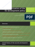 The Securitization of the EU Development Policy