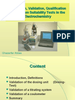 Calibration, Validation, Qualification and System Suitability Tests in the Electrochemistry
