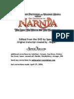 NarniaFans LWW Script