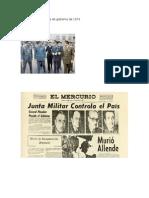 Integrantes de La Junta de Gobierno de 1973
