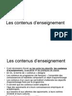 Les Contenus D_enseignement