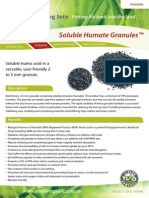 Solulable Humate Granules