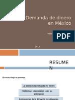 Demanda de Dinero en Mexico