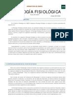 Guía Asignatura Psicología Fisiológica