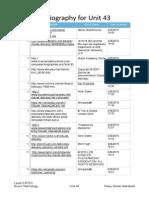 Bibliography Unit 43 PDF