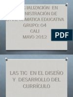 llasticeneldiseoydesarrollodelcurriculo-120506080246-phpapp02