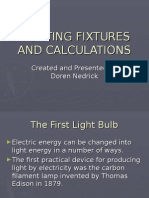 16. Lighting Fixtures and Calculations