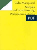 Odo Marquard-Skepsis Und Zustimmung. Philosophische Studien -Reclam (1994)