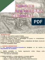 10.- PRIMERA GUERRA MUNDIAL