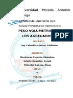 Informe Peso Volumetrico Agregados Final