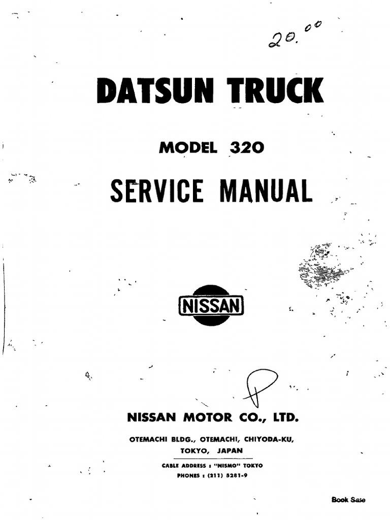 service manual datsun truck model 320 piston propulsion rh scribd com