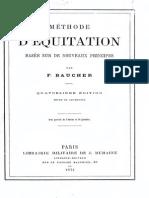 Methode d Equitation Baucher 1874