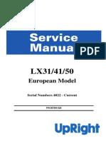 Manual Operador UPRIGHT LX31!41!50