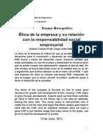 Valores Éticos y Morales en La Empresa Actual