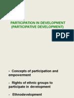 Participative Development April 2015