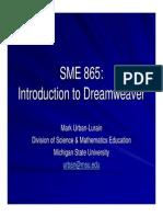 Sme 865 Dreamweaver Intro
