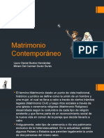 Matrimonio Contemporáneo