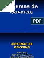 Apresentação Sistema de Governo Forma de Governo